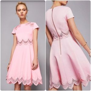 Ted Baker Rehanna Embroidered Cap Skater Dress